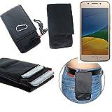 K-S-Trade Gürteltasche Lenovo Moto G5 Single-SIM Brusttasche Brustbeutel Schutz Hülle Smartphone Case Handy schwarz Travel Bag Travel-Case vertikal