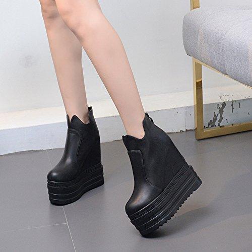 GTVERNH-martin stivali maggiore high heeled stivali e con una suola spessa stivali corrispondono le donne britanniche prossimo round.38 black 36 black