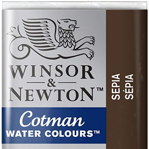 Winsor & Newton 301696 Cotman Colori Acquerello, Viridian, Nero (Sepia), 1.9x1.6x1.1 cm