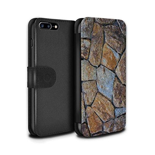 Stuff4 Coque/Etui/Housse Cuir PU Case/Cover pour Apple iPhone 7 Plus / Cailloux des Plages Design / Pierre/Rock Collection Petit Mur de Pierre