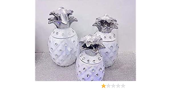 SUGAR AND COFFEE BISCUIT ROMANY ORNAMENTS STORAGE GIFT PINEAPPLE JAR TEA
