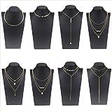 Coolcoco Moda de Metal de oro Choker Collar Conjunto con Colgante Para las Mujeres y las Niñas (8 Piezas / Set)