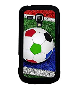 ifasho Designer Phone Back Case Cover Samsung Galaxy S Duos S7562 ( Simple Classic Pattern Green )