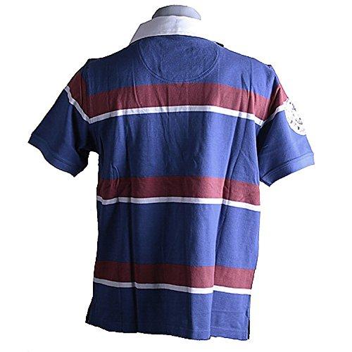 Kitaro, kurzarm Polohemd Poloshirt, 191631, royal red gestreift [3292] Royal