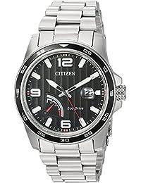 Citizen Analogue Black Dial Quartz Stainless Steel Men's Watch (AW7030-57E)