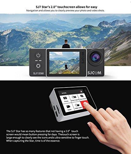 SJCAM SJ7 STAR Wifi Action Camera 2.0 Touch Screen 30M Waterproof Sports Cam Mini DVR (Black) Great for Skiing