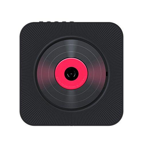 Docooler, boombox portatile da parete, lettore CD, Bluetooth, con telecomando FM, ingresso radio AUX, uscita cuffie e lettore musicale disco