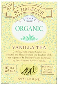 ST. DALFOUR Organic Tea, Vanilla, Tea Bags, 25-Count Box (Pack of 6)