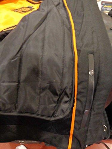 Herren Motorrad-Distressed Braun Sportliche Scooter Leder Jacke W/2Gun Taschen Regular) - 5