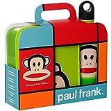 Paul Franc F20350001 - Conjunto de fiambrera y botella tipo cantimplora, color verde