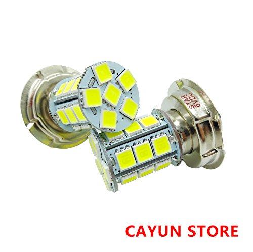 Preisvergleich Produktbild 6 Volt 15W Super weiße LED SMD 5050 P26S Scheinwerfer Glühbirnen,  Ersatz Motorrad Scooter Moped Auto Halogen Lampe