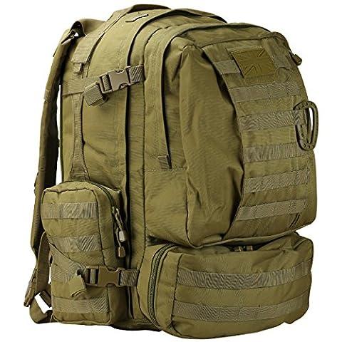 Kombat Backpack, Blue Pack - 60 Litres, Green