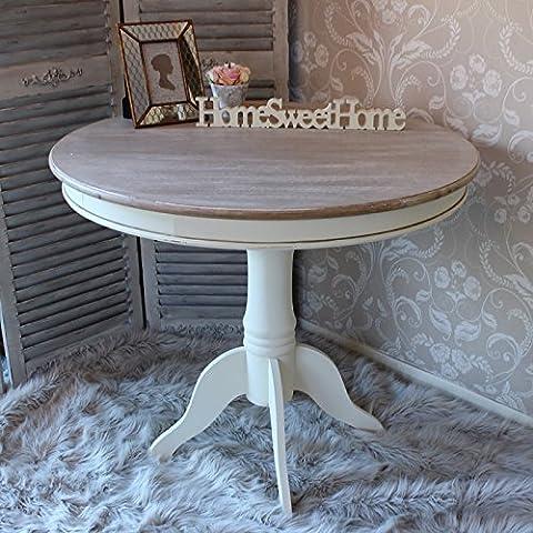 País Rango de fresno–crema de madera redonda mesa de comedor