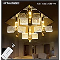 Eurotondisplay Ceiling light crystal 1681with Remote Control LED Light Controlled Separately A + 96.00 wattsW