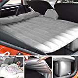 Vmoni Inflatable Travel Car Bed Air Sofa with Two Inflatable Pillow and Air Pump for Car Back Seat