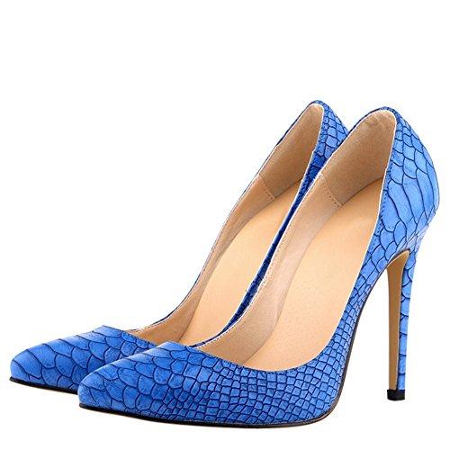 OCHENTA - Sandali con Zeppa donna Blu (blu)
