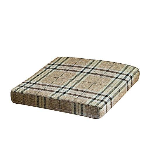 XMZDDZ Verdicken Sie Schwamm Tatami-matten Stuhl-Pad,Stuhl Atmungsaktive Sitzkissen für Bürostuhl mit Krawatten-H 40x40x8cm(16x16x3)