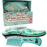 Bella and Bear, set di spazzola e pettine per capelli, ottima spazzola per capelli asciutti o bagnati, niente più nodi e lacrime