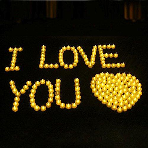 ZTYR Flammenlose Kerzen mit Remote Controlled, LED Tee Licht Kerzen mit batteriebetriebenen Kerzen Dekorationen für Partys Hochzeiten, Pack von 24