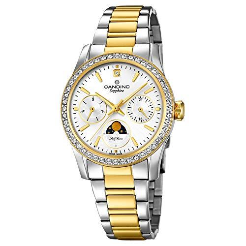 Candino Reloj analógico para Mujer c4687/1Acero Inoxidable Reloj de Pulsera Fashion Plata uc4687/1