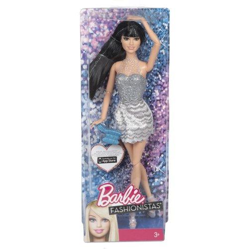 Preisvergleich Produktbild Mattel Barbie Y7492 - Fashionistas Puppe, schwarzhaarig