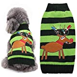 XDDQ Pet Clothing For Dogs,Autumn/Winter New Dog Clothes Christmas Elk Sweater Pet Clothes
