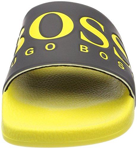 BOSS Athleisure Herren Solar_Slid_Logo Pantoletten Gelb (Open Yellow 750)