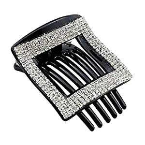 Baoblaze Schönheitsquadrat-Haarcliprhinestone-Haargreiferstift Für Frauendame-Make-upwerkzeuge