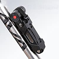 LPY-Cube Bike Lock Heavy Duty Anti-theft Bicycle Chain Lock Folding with Mounting Bracket Multi-function Alloy Hamburger Lock Resettable