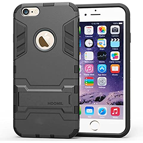 HOOMIL Custodia iPhone 6 6s Armor Serie Silicone Built-in Stand
