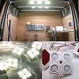 MoPei Led Auto Interni Kit, 40 LED Lampada Luci Lettura 12V Luce Bianca per Auto / Esterno Camper / Barra / Camion