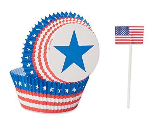 American Greetings 5495384 Patriotic Cases Cupcake-Kit, Papier