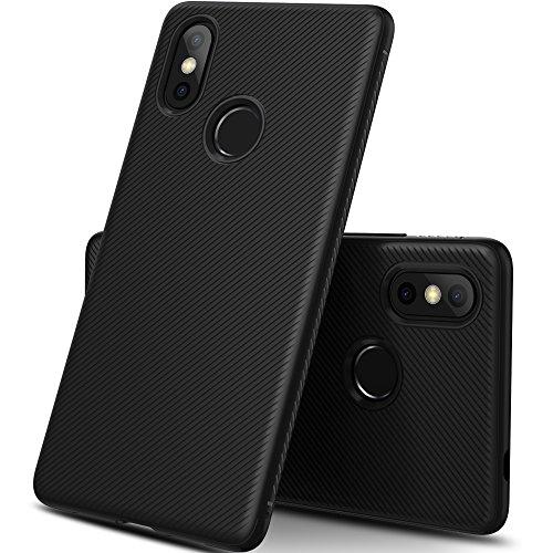 iBetter Xiaomi Mi 8 Funda, Xiaomi Mi 8 Funda Blanda a Prueba de Golpes Nueva, Funda de Silicona TPU Funda Xiaomi Mi 8 para teléfono Inteligente. Negro