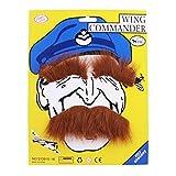 Fami Costume drôle de Halloween Party Homme Poils Disguise Brun Mustache(C)