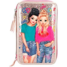 ESTUCHE TRIPLE TOP MODEL ROSA METALIZADO
