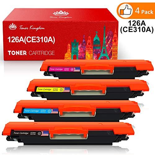 Toner Kingdom 4 Paquete 26A CE310A CE311A Cartuchos De Tóner Compatible para HP Laserjet Pro 100 Color MFP M175 M175A M175nw M275 M275NW MFP CP1020 CP1025 CP1025nw MFP M176 M176FN M177 Impresora