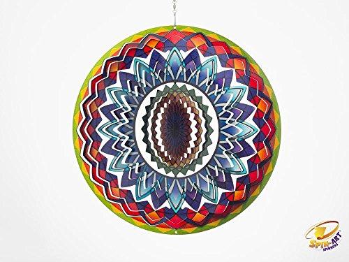 Spin Art Premium Mandala Regenbogen-Wind Spinner (12Zoll)