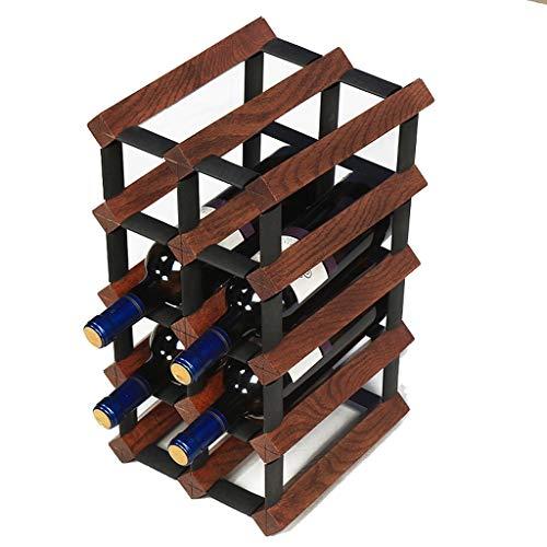 DUOER home-Weinregale 12 Bottle Modular Wine Rack - Hochwertiges Buchenholz - Sehr robust und hält Lange - Praktisch und kompakt (Color : B) Modular Wine Rack