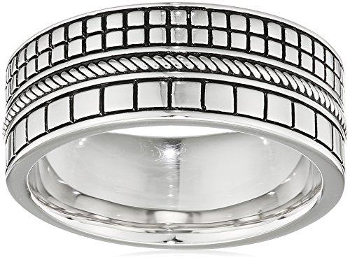 caï men Herren-Ring 925 Silber rhodiniert schwarz lackiert 60 (19.1) C4238R/90/00/60