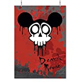 HAPPY FREAKS Poster 'Death Mouse' DIN A2 - Fun-Wandbild Tattoo - Plakat ohne Rahmen - Bilder und Dekoration