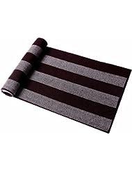 MZMZ ULTRA apretado el cuello BMBAI cálido-el extremo de la bufanda bufanda de lana del hombre elegante largo invierno caluroso un tartán escocés pañuelo multicolor, Café