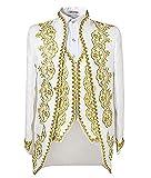 homme luxueux ,la veste doublée,col tailleur finition bande twill,2 poches à rabats à la base.aristocratique,pourpoint,beau costume &pantalon - blanc - S