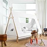 Pharao24 Tipi Kinderbett aus Kiefer Massivholz