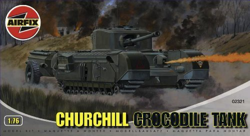 Airfix A02321 Churchill 'Crocodile' Tank 1:76 Scale Series 2 Plastic Model Kit by Airfix