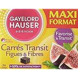 Gayelord Hauser Carres de Transit Figues et Fibres Maxi Format Diététique 24 Carrés - Lot de 2