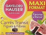 Gayelord Hauser Diététicien Carrés Transit Figues et Fibres 24 x 10 g - Lot de 2