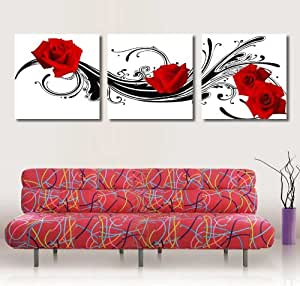 art de toile art rouge copie d 39 art sur toile moderne maison et le bureau decoration murale. Black Bedroom Furniture Sets. Home Design Ideas