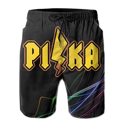 Pika Herren Board Shorts Badehose Beachwear Relaxed-Fit Beach Shorts M