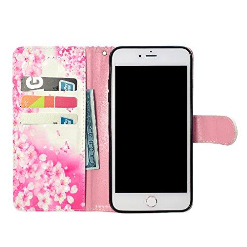 iPhone 6s Plus Custodia,iPhone 6 Plus Custodia in Pelle,Slynmax 3D Modello Copertura Folio Flip Cover PU Wallet Case Per iPhone 6s Plus / iPhone 6 Plus 5.5 Protezione Caso Ultra Sottile Colorato Prote Modello #9