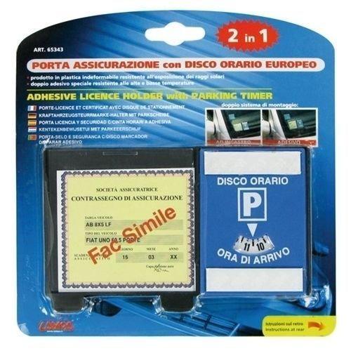 LAMPA 65343 Porta Assicurazione con Disco Orario